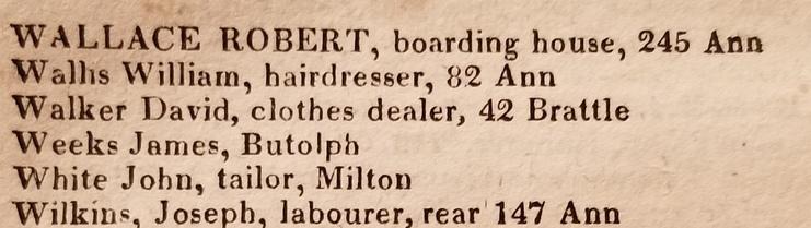Walker, David, clothes dealer, 42 Brattle